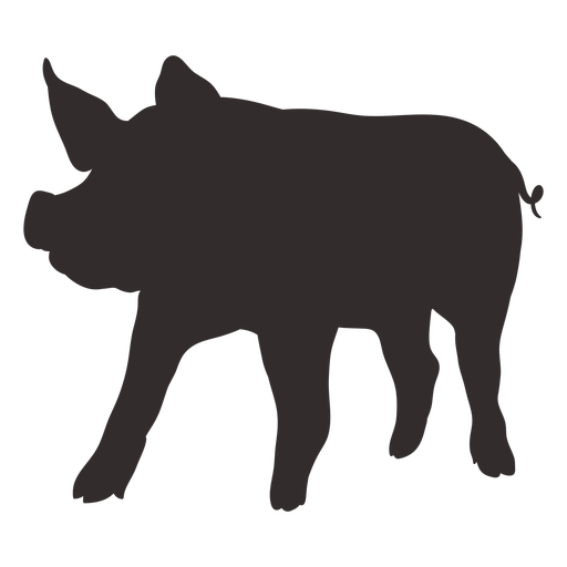 Front view standing pig silhouette