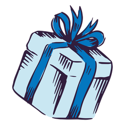 Diseño de ilustración de caja de regalo