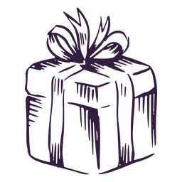 Design de traço de caixa de presente