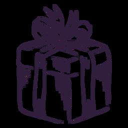 Diseño de trazo de caja de regalo