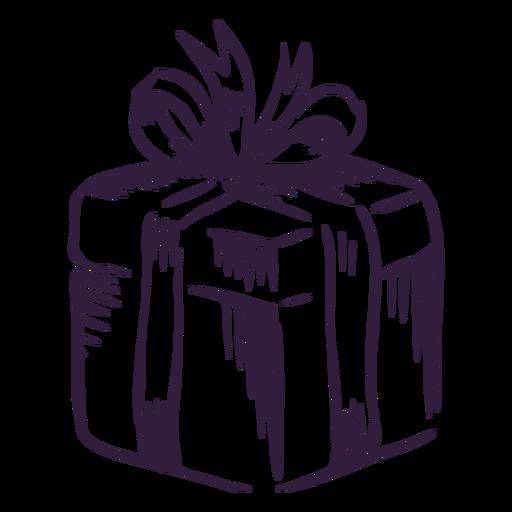 Diseño de trazo de caja de regalo Transparent PNG