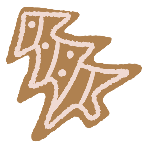 Gingerbread christmas cookie illustration