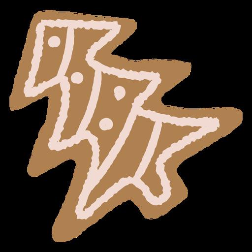 Ilustración de galleta de Navidad de pan de jengibre Transparent PNG