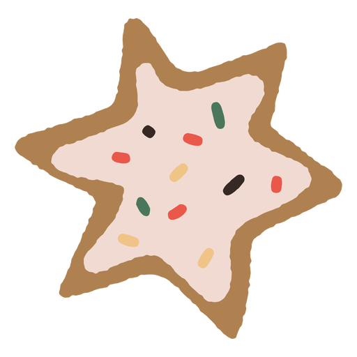 Gingerbread star cookie illustration
