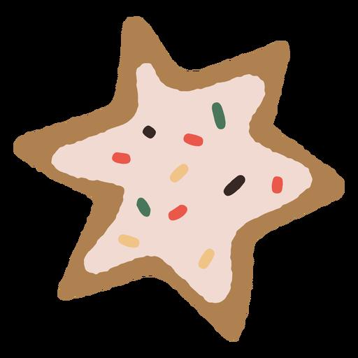 Ilustración de galleta de estrella de pan de jengibre