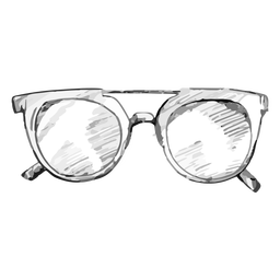 Glasses sketch rounded style