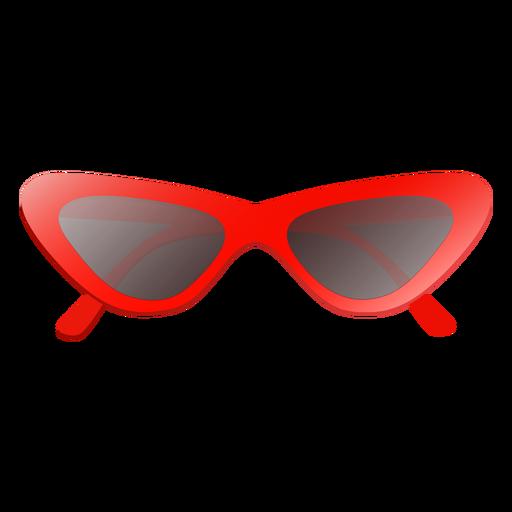 Glossy cat eye sunglasses Transparent PNG