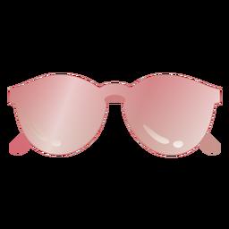 Gafas de sol brillantes de forma redonda
