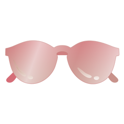 Glossy sunglasses round shaped