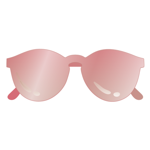 Glossy sunglasses round shaped