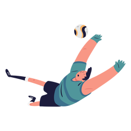 Goal soccer player character illustration