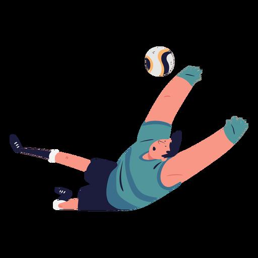Goal soccer player character illustration