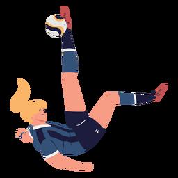 Jogador de futebol de goleiro feminino