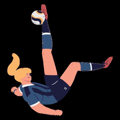 Portero futbolista hembra