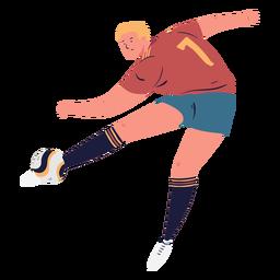 Goaling jugador de fútbol personaje masculino