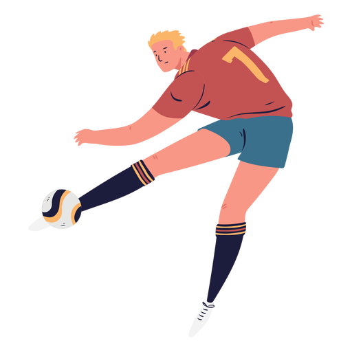 Goaling soccer player male character