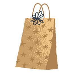 Golden gift bag illustration