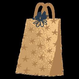 Ilustração de saco de presente dourado