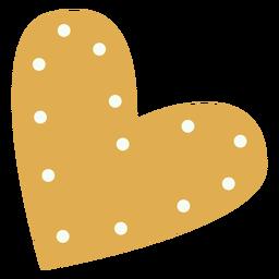 Golden heart decorative flat