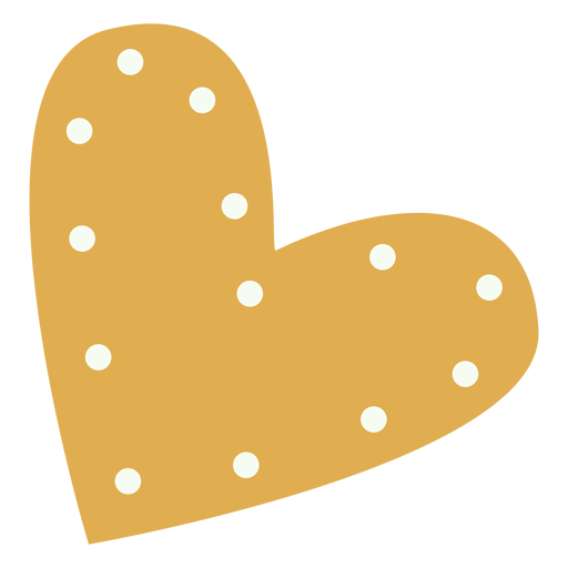 Plano decorativo corazón dorado