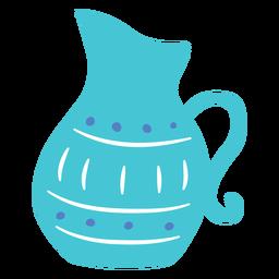 Projeto do doodle do jarro de Hanukkah