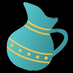 Diseño plano de jarra de Janucá
