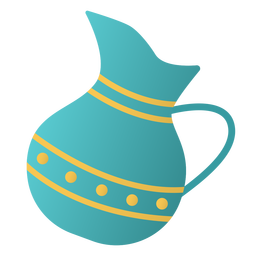 Diseño plano del tarro de Hanukkah