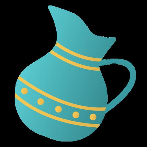 Diseño plano de jarra de Janucá Transparent PNG