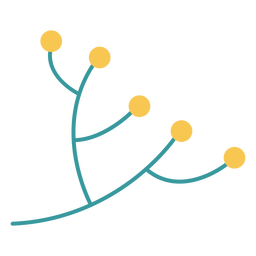 Hanukkah olive branch plant flat design