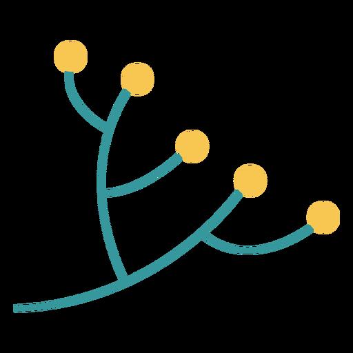 Diseño plano de la planta de rama de olivo de Hanukkah Transparent PNG