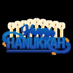 Feliz Hannukah velas letras