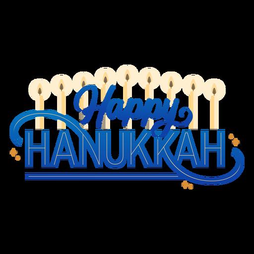Letras de velas hannukah felizes