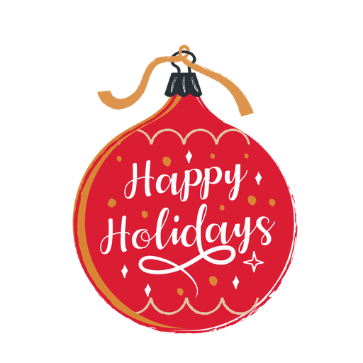Happy holidays ornament - Transparent PNG & SVG vector file