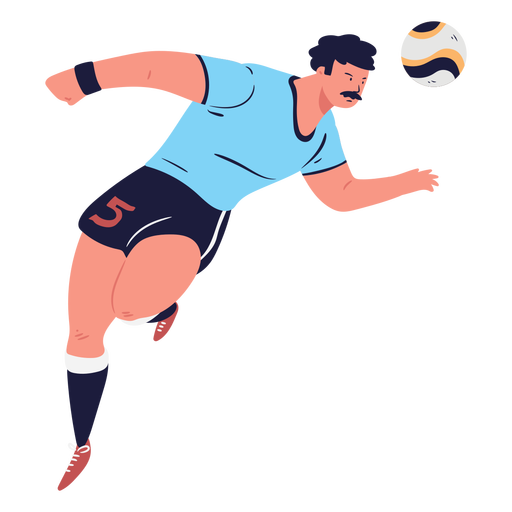 Header soccer player character