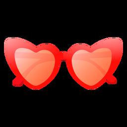 Diseño brillante de gafas de sol en forma de corazón