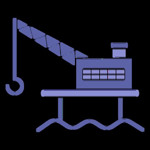 Heavy lifting machinery silhouette