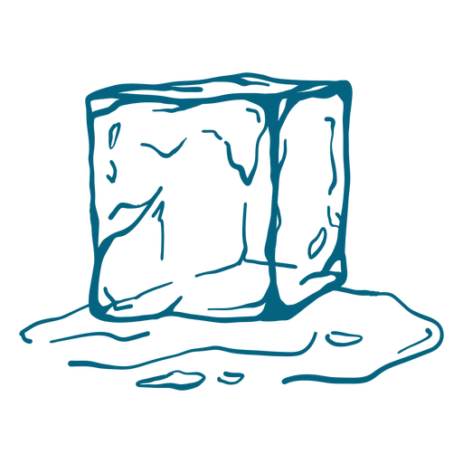 Ice cube melting stroke design