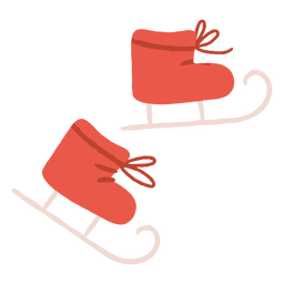 Ice skating skates illustration