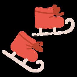 Ilustración de patines de patinaje sobre hielo