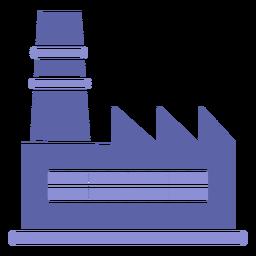 Projeto de silhueta do edifício da indústria