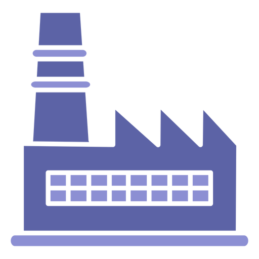 Industry building silhouette design