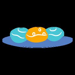 Doodle de tradição judaica de sobremesa cheia de gelatina