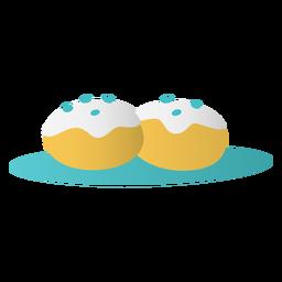 Postre relleno de gelatina tradición judía plana