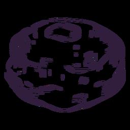 Diseño de trazo sufganiyah relleno de gelatina