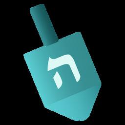 Dreidel judía plana