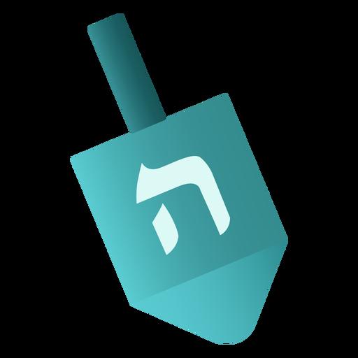 Jewish dreidel flat