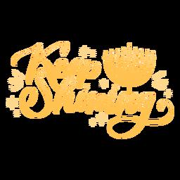 Sigue brillando cita de saludo de hanukkah