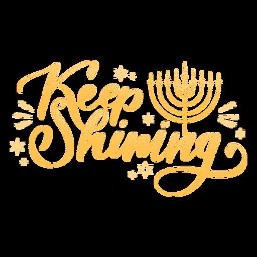 Sigue brillando cita de saludo de hanukkah Transparent PNG