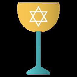 Kidush cup judaico plano