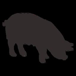 Vista lateral de la silueta de cerdo grande